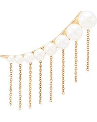 Sophie Bille Brahe - X Sacai 001 Short Chain Fringe Pearl Single Creeper Earring - Lyst