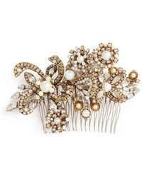 Erickson Beamon - 'my One And Only' Swarovski Crystal Glass Pearl Hair Pin - Lyst