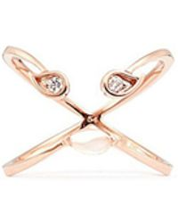 Ruifier - 'florentina' Diamond Chalcedony 18k Rose Gold Ring - Lyst