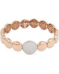 Roberto Coin - 'colored Treasures' Diamond 18k Rose Gold Bangle - Lyst