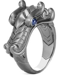 John Hardy - 'legends Naga' Sapphire Rhodium Silver Ring - Lyst