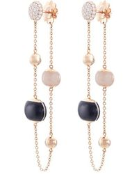 Roberto Coin - Diamond Jade 18k Rose Gold Beaded Chain Drop Earrings - Lyst
