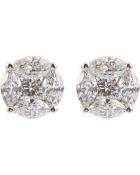 Roberto Coin 'magic Diamonds' 18k White Gold Stud Earrings
