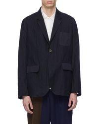 Uma Wang - 'james' Virgin Wool Blend Twill Soft Blazer - Lyst
