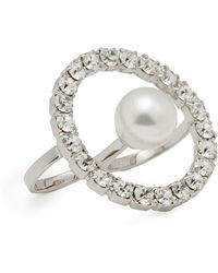 Joomi Lim - 'saturn Stunner' Swarovski Crystal Hoop Two Finger Ring - Lyst