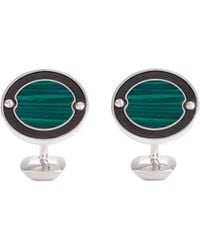Stephen Webster - 'england Made Me' Malachite Rhodium Silver Cufflinks - Lyst