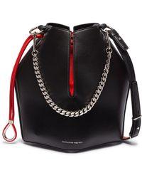 Alexander McQueen - 'the Bucket Bag' In Leather - Lyst