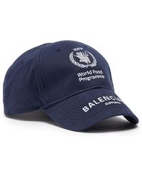 811c623f Balenciaga - X World Food Programme Logo Embroidered Baseball Cap - Lyst