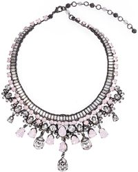 Erickson Beamon - 'lady Of The Lake' Swarovski Crystal Bib Necklace - Lyst