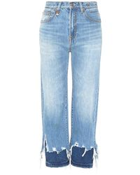 R13 - 'camile' Layered Frayed Cuff Jeans - Lyst