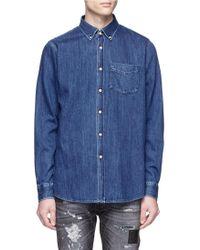 Denham - 'the Standard' Washed Denim Shirt - Lyst