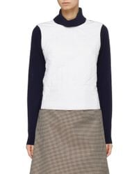 Ffixxed Studios - Colourblock Padded Panel Wool Mock Neck Sweater - Lyst