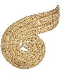 Buccellati - 'orocoll' 18k Yellow Gold Swirl Brooch - Lyst