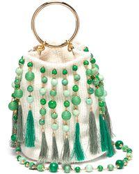 Rosantica - 'lexy' Ring Handle Bead Tassel Bucket Bag - Lyst