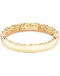 Roberto Coin - 'golden Gate' Diamond 18k Gold Bangle - Lyst