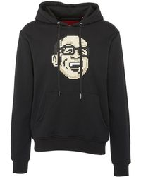 Mostly Heard Rarely Seen - Textured Graphic Print Unisex Hoodie - Lyst