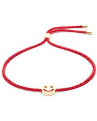 Ruifier - 'merry' 18k Yellow Gold Vermeil Charm Cord Bracelet - Lyst