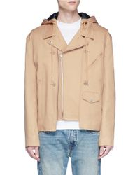 Helmut Lang - Detachable Vest Cotton Canvas Jacket - Lyst