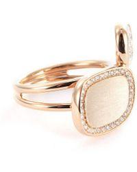 Roberto Coin - 'black Jade' Diamond 18k Rose Gold Ring - Lyst