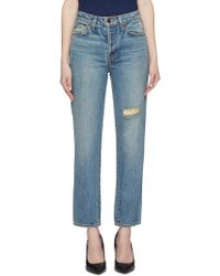 Sandrine Rose - 'the Janis' Ripped Jeans - Lyst