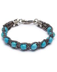 Emanuele Bicocchi | Beaded Braided Chain Bracelet | Lyst
