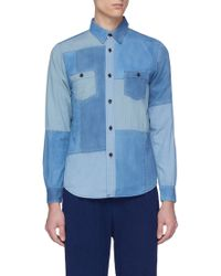 FDMTL - Patchwork Cotton Shirt - Lyst