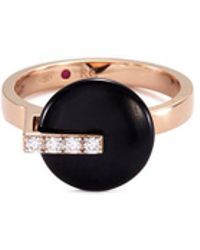 Roberto Coin - 'colored Treasures' Diamond Jade 18k Rose Gold Ring - Lyst