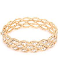 Roberto Coin - 'new Barocco' Diamond 18k Rose Gold Bangle - Lyst
