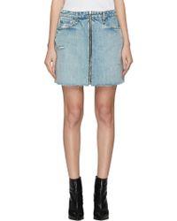 3e968d1eef Rag & Bone Lakewood Cotton Eyelet Skirt in White - Lyst