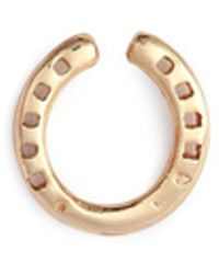 Loquet London - 'horseshoe' 14k Yellow Gold Single Stud Earring – Protection - Lyst
