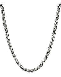 David Yurman Silver Box Chain Necklace