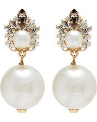 Anton Heunis - Swarovski Crystal Pearl Drop Earrings - Lyst