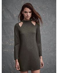 Lanston - Cutout Turtleneck Mini Dress - Lyst