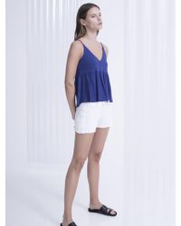 Lanston - Lace Panel Short - Lyst