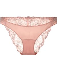 c1cbfc516 Lyst - La Perla Powder Pink French Knickers With Lurex Embroidery in ...