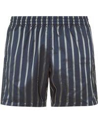 La Perla   Striped Swim Shorts In Jacquard Technical Fabric   Lyst