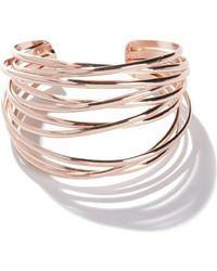 La Redoute - Pink Steel Cuff Bracelet - Lyst