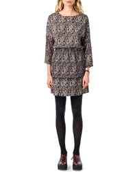Best Mountain - Printed Dress With Elasticated Waist - Lyst