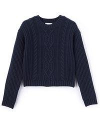 La Redoute - Pullover Mit Rundem Ausschnitt, Grobstrick - Lyst