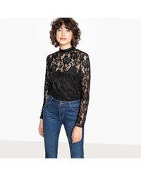 La Redoute - Blusa con cuello alto, manga larga - Lyst