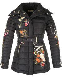 Rene' Derhy - Floral Print Mid-length Padded Jacket - Lyst