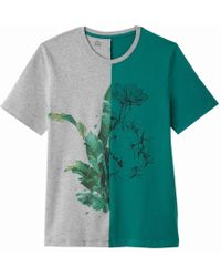 La Redoute - Two-tone Crew Neck T-shirt With Motif On Front - Lyst