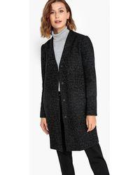 Vila - Bouclé Wool Coat With Metallic Thread - Lyst