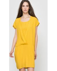 Vila - Softly Draping Short-sleeved Dress - Lyst