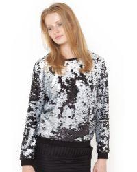 Suncoo - Long-sleeved Sequined Sweatshirt - Lyst