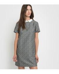 School Rag - Jacquard Dress With Peter Pan Collar - Lyst