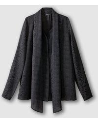 School Rag - Coal Long-sleeved Pussy Bow Blouse - Lyst