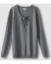 Best Mountain - Lace-up Jumper/sweater - Lyst