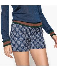 Suncoo - Bennet High Waist Jacquard Shorts - Lyst