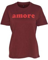 ONLY - Bye Slogan Cotton T-shirt - Lyst